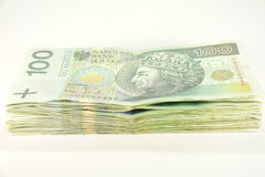 Stacks of hundreds zloty Royalty Free Stock Photography