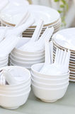 Stacks Of Kitchenware. Stock Photos