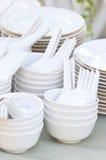 Stacks Of Kitchenware. Stock Photos