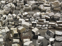 Stacks of large concrete blocks Royalty Free Stock Photos