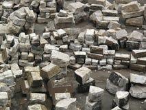 Stacks of large concrete blocks Royalty Free Stock Photos