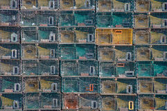 Stacks of Lobster Traps Royalty Free Stock Photography
