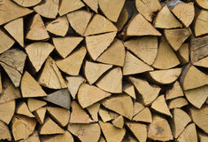 Stacks of logs Royalty Free Stock Photo