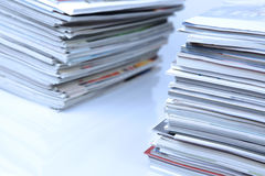 Stacks of magazines Royalty Free Stock Photos