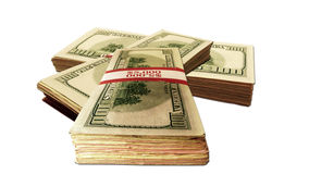 Stacks of money Stock Photography
