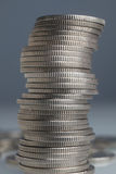 Stacks of money coins Royalty Free Stock Photo