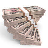 Stacks of money. Fifty dollars. Stock Photography