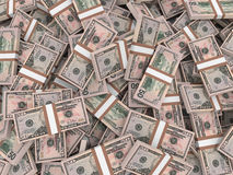 Stacks of money. Fifty dollars. Royalty Free Stock Photos
