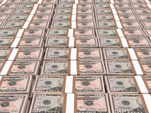 Stacks of money. Fifty dollars. Stock Images