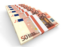 Stacks of money. Fifty euros. Royalty Free Stock Image