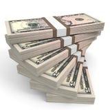 Stacks of money. Five dollars. Royalty Free Stock Image