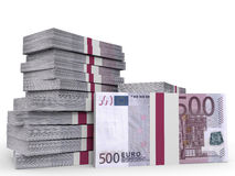 Stacks of money. Five hundred euros. Stock Photography