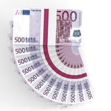 Stacks of money. Five hundred euros. Royalty Free Stock Image