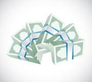 Stacks of money. illustration design Royalty Free Stock Photo