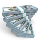 Stacks of money. New one hundred dollars. Stock Image