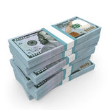 Stacks of money. New one hundred dollars. Royalty Free Stock Images
