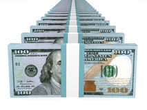 Stacks of money. New one hundred dollars. Royalty Free Stock Photography