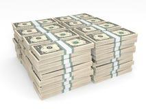 Stacks of money. One dollar. Stock Photography