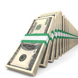 Stacks of money. One hundred dollars. Royalty Free Stock Photography
