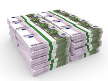 Stacks of money. One hundred euros. Royalty Free Stock Image