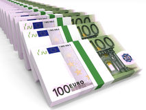 Stacks of money. One hundred euros. 3D illustration vector illustration