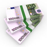 Stacks of money. One hundred euros. Stock Images
