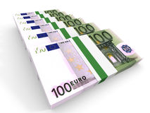 Stacks of money. One hundred euros. Royalty Free Stock Photography