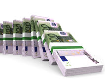 Stacks of money. One hundred euros. Royalty Free Stock Photos