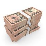 Stacks of money. Ten  dollars. Royalty Free Stock Images