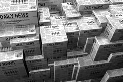 Stacks of newspaper Stock Photography