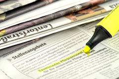 Stacks of newspapers Royalty Free Stock Photo