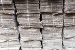 Stacks of newspapers Stock Photo