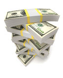 Stacks Of Dollars Stock Images
