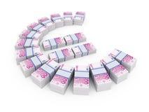 Stacks Of Euro Royalty Free Stock Image