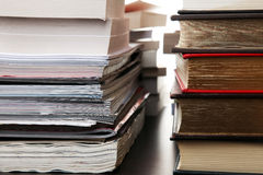 Stacks Of Magazines And Books Stock Photography