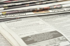 Stacks Of Newspapers Stock Image