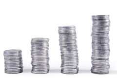 Free Stacks Of Silver Coins Stock Images - 22739044