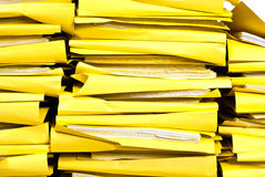 Stacks of office folders Royalty Free Stock Images