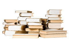 Stacks of old-fashioned books Stock Images