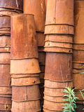 Stacks of old rusted buckets Stock Photography