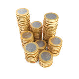 Stacks of one Euro coins Stock Image