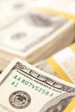 Stacks of One Hundred Dollar Bills Stock Photos