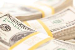 Stacks of One Hundred Dollar Bills Stock Images