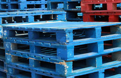 Stacks of pallet crates Royalty Free Stock Photos