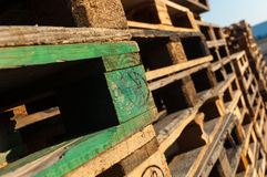 Stacks of pallets Royalty Free Stock Photo