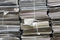 Stacks of paper full frame Royalty Free Stock Image