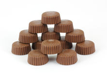 Stacks Peanut Butter Cups Stock Photography