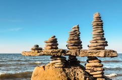 Stacks of pebbles Royalty Free Stock Photography