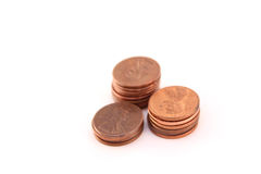 Stacks of pennies Royalty Free Stock Photography