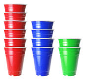 Stacks of Plastic Cups Stock Image